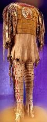 Today, some Blackfoot people still wear moccasins or a buckskin shirt